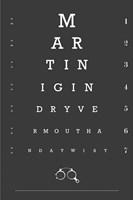 Eye Chart Martini Fine-Art Print