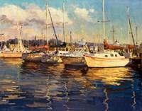Boats on Glassy Harbor Fine-Art Print