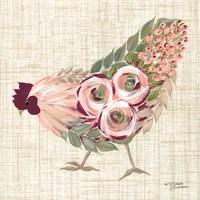 Botanical Rooster II Fine-Art Print