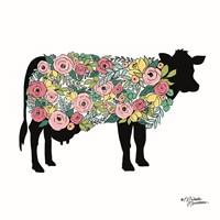 Floral Cow Fine-Art Print