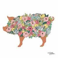 Floral Pig Fine-Art Print