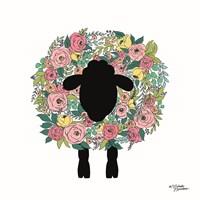 Floral Sheep Fine-Art Print