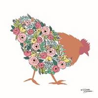 Floral Rooster Fine-Art Print