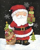Santa Claus with Presents Fine-Art Print
