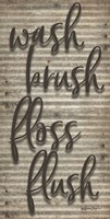 Wash Brush Floss Flush Fine-Art Print