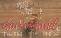 Dachshund in the Snow Fine-Art Print