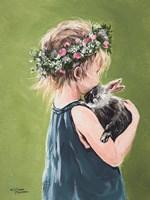 Girl with Bunny Fine-Art Print