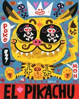 Magic Japanese Cockfighting Fine-Art Print