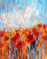 Poppy Walk Fine-Art Print