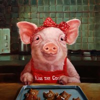 Gingerbread Pigs Fine-Art Print