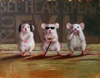 Three Wise Mice Fine-Art Print