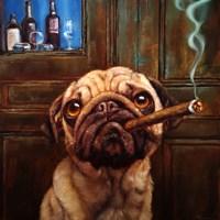 Uptown Pug Fine-Art Print
