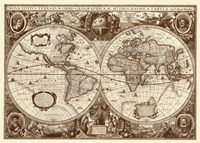 Nova Totius Terrarum Orbis Tabula (sepia) Fine-Art Print