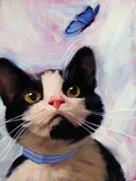 Cat and Butterfly Fine-Art Print