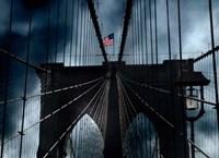 Stars and Stripes on Brooklyn Bridge Fine-Art Print