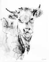 Village Cow Gray Fine-Art Print