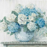 Blue Hydrangea Cottage Crop Fine-Art Print