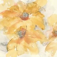 Golden Clematis I Fine-Art Print