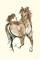 Sketchy Horse V Fine-Art Print
