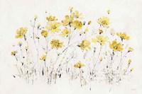 Wildflowers I Bright Yellow Fine-Art Print