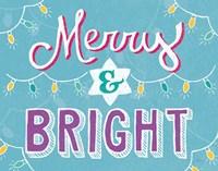 Merry and Bright Aqua Fine-Art Print