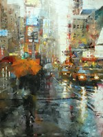 Manhattan Orange Umbrella Fine-Art Print
