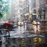 Manhattan Red Umbrella Fine-Art Print