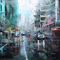Montreal Turquoise Rain Fine-Art Print