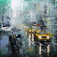 New York Rain Fine-Art Print