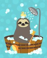 Bathing Sloth Fine-Art Print