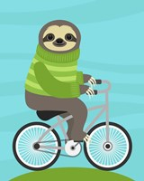 Cycling Sloth Fine-Art Print
