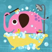 Elephant in Bathtub Fine-Art Print