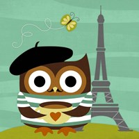 Owl in Paris Fine-Art Print