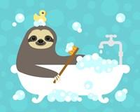Scrubbing Bubbles Sloth Fine-Art Print