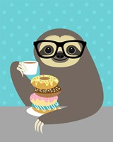 Snacking Sloth Fine-Art Print