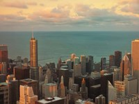 Sunset in Chicago Fine-Art Print