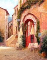 Eze Village Cafe, France Fine-Art Print