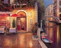 Night Cafe after Rain Fine-Art Print