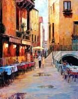 Street Cafe after Rain Fine-Art Print