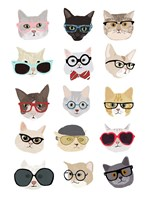 Cats with Glasses Fine-Art Print