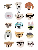Dogs with Glasses Fine-Art Print