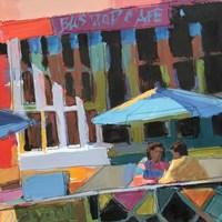 Bus Stop Cafe Fine-Art Print