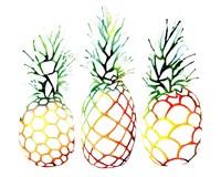 Retro Pineapples Fine-Art Print