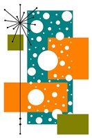 Lacuna - Aqua and Orange Fine-Art Print