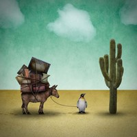 Mr. Penguin Goes on Holiday Fine-Art Print