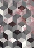 Cubes Rose Fine-Art Print