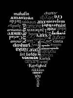 Translation of Love (black) Fine-Art Print
