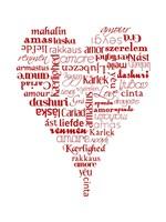 Translation of Love (white) Fine-Art Print