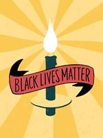 Black Lives Matter - Candle Fine-Art Print