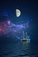 By Way of the Moon and Stars Fine-Art Print